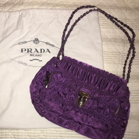 ff5ea503d0ca10 Prada Bags | Purple Purse With Authentication Cards | Poshmark